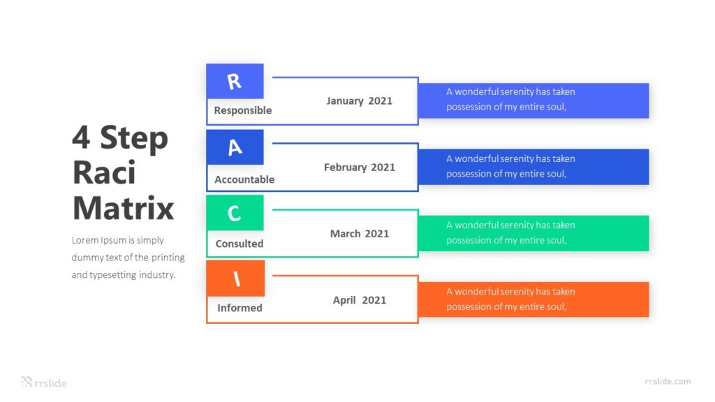 4 Step Raci Matrix Infographic Template