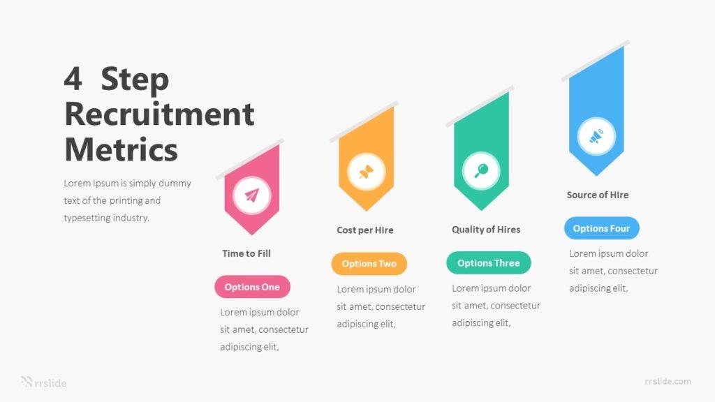 4 Step Recruitment Metrics Infographic Template