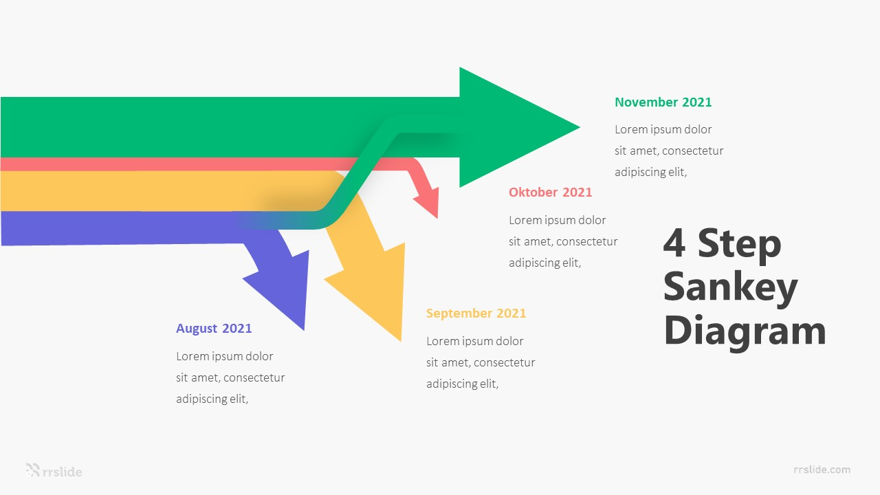 4 Step Sankey Diagram Infographic Template