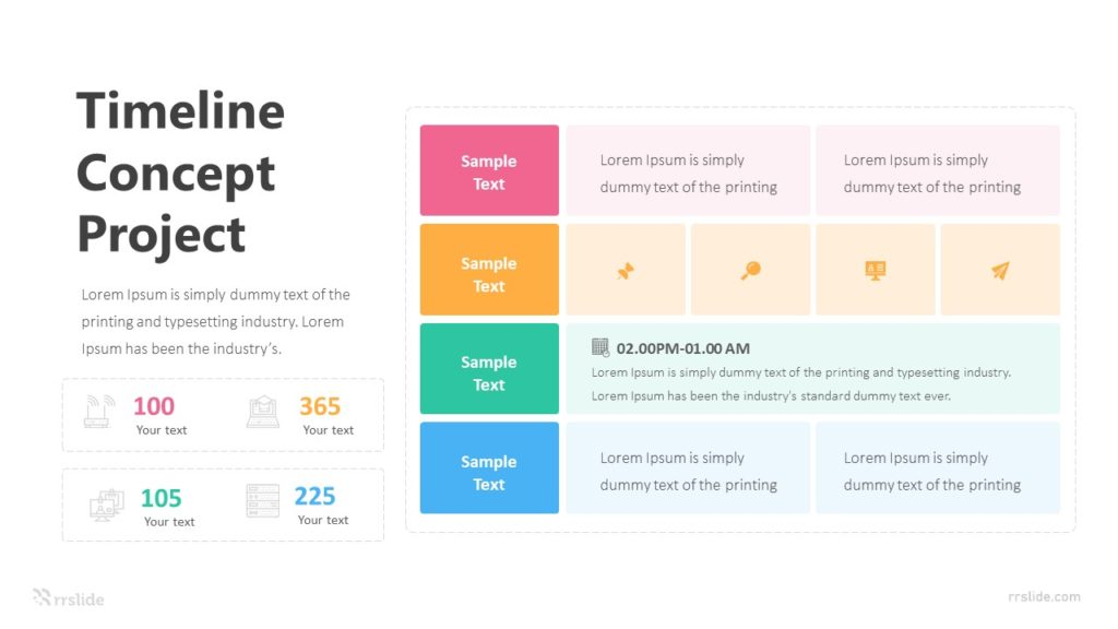 4 Step Timeline For Concept Project Infographic Template