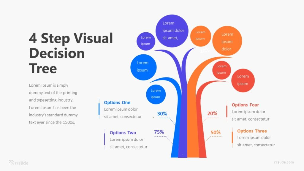 4 Step Visual Decision Tree Infographic Template