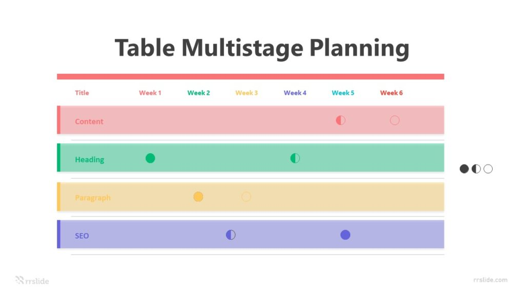 4 Table Multistage Planning Infographic Template