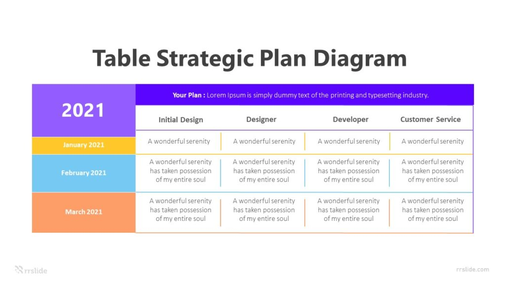 4 Table Strategic Plan Diagram Infographic Template