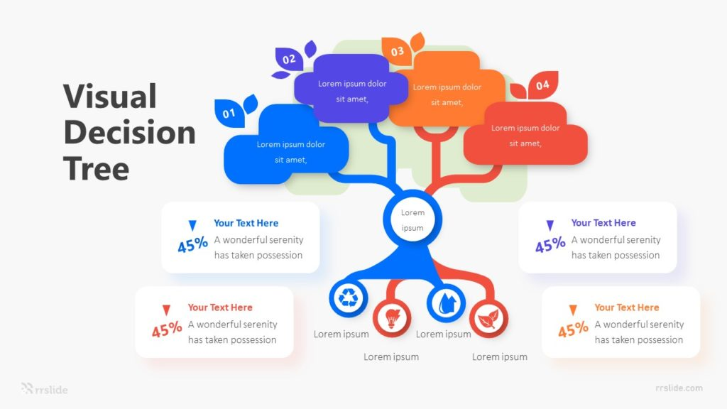 4 Visual Decision Tree Infographic Template
