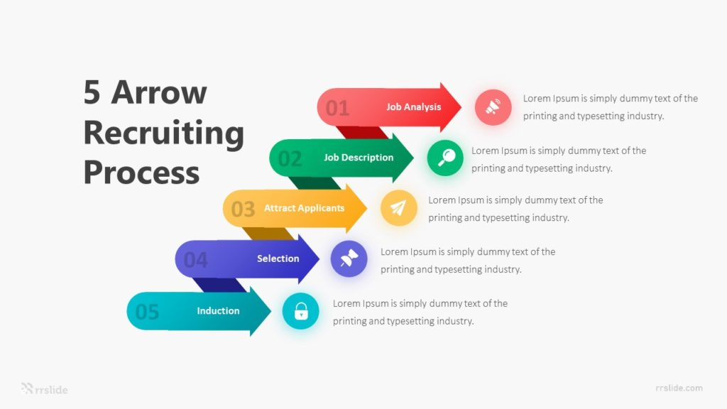 5 Arrow Recruiting Process Infographic Template