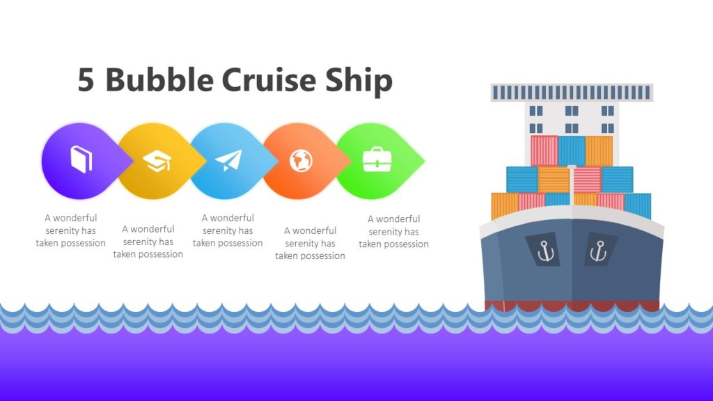 5 Bubble Cruise Ship Infographic Template