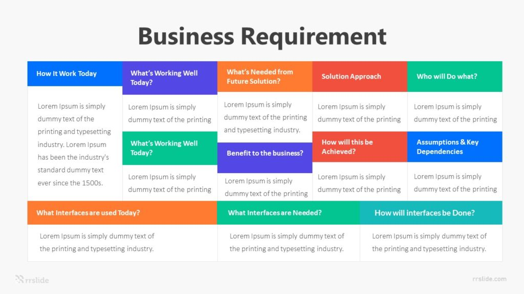5 Business Requirement Infographic Template