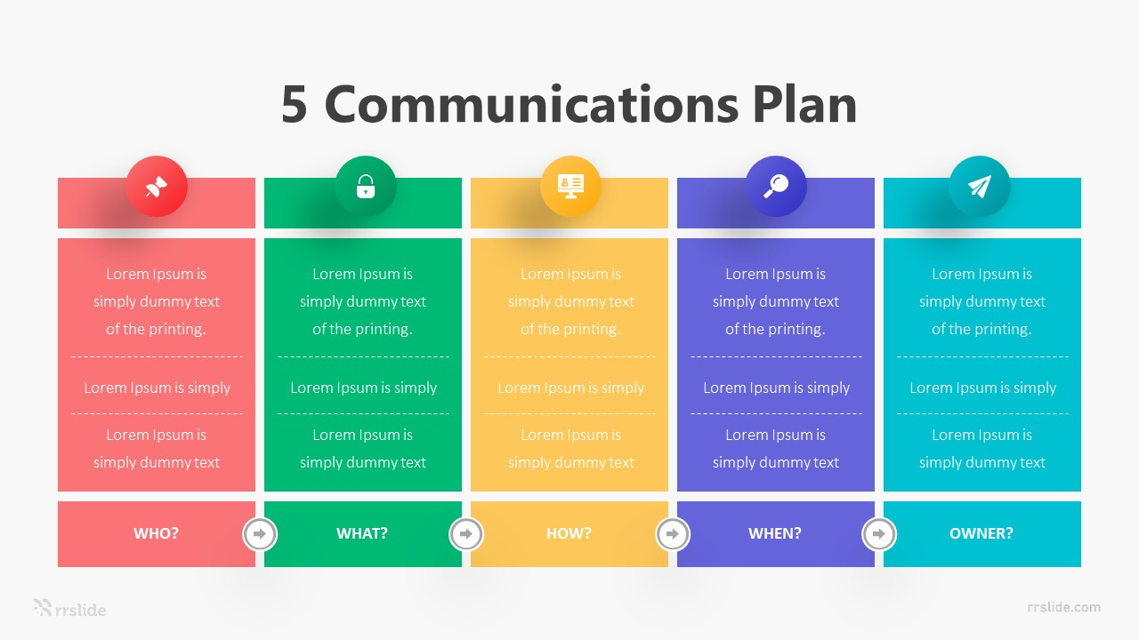 5 Communications Plan Infographic Template