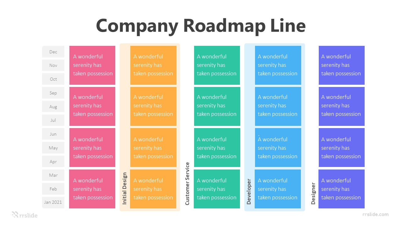 5 Company Roadmap Line Infographic Template