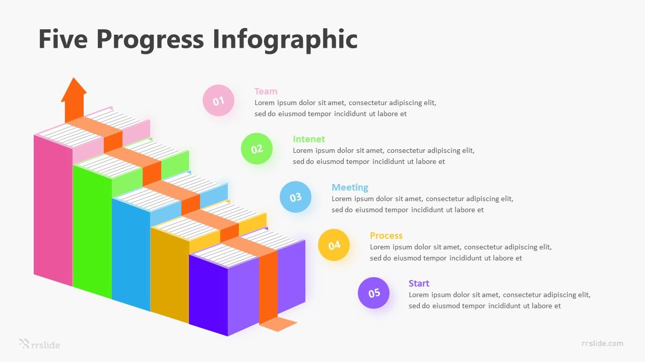 5 Five Progress Infographic Template