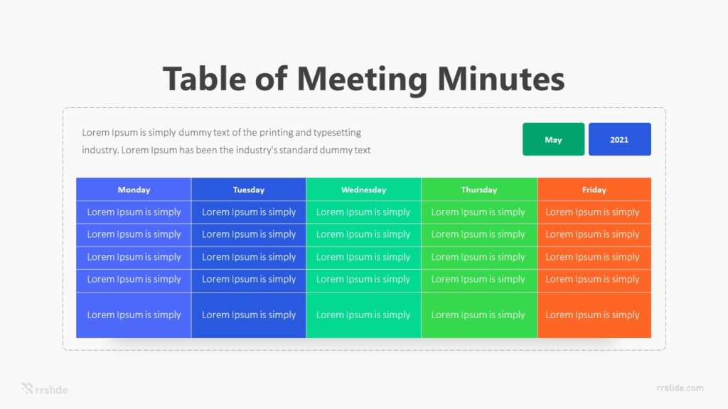 5 Meeting Minutes Infographic Template