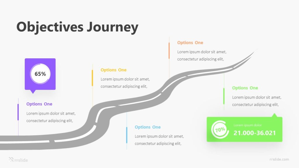 5 Objectives Journey Infographic Template
