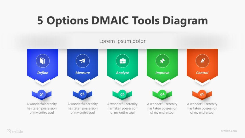 5 Options DMAIC Tools Diagram Infographic Template