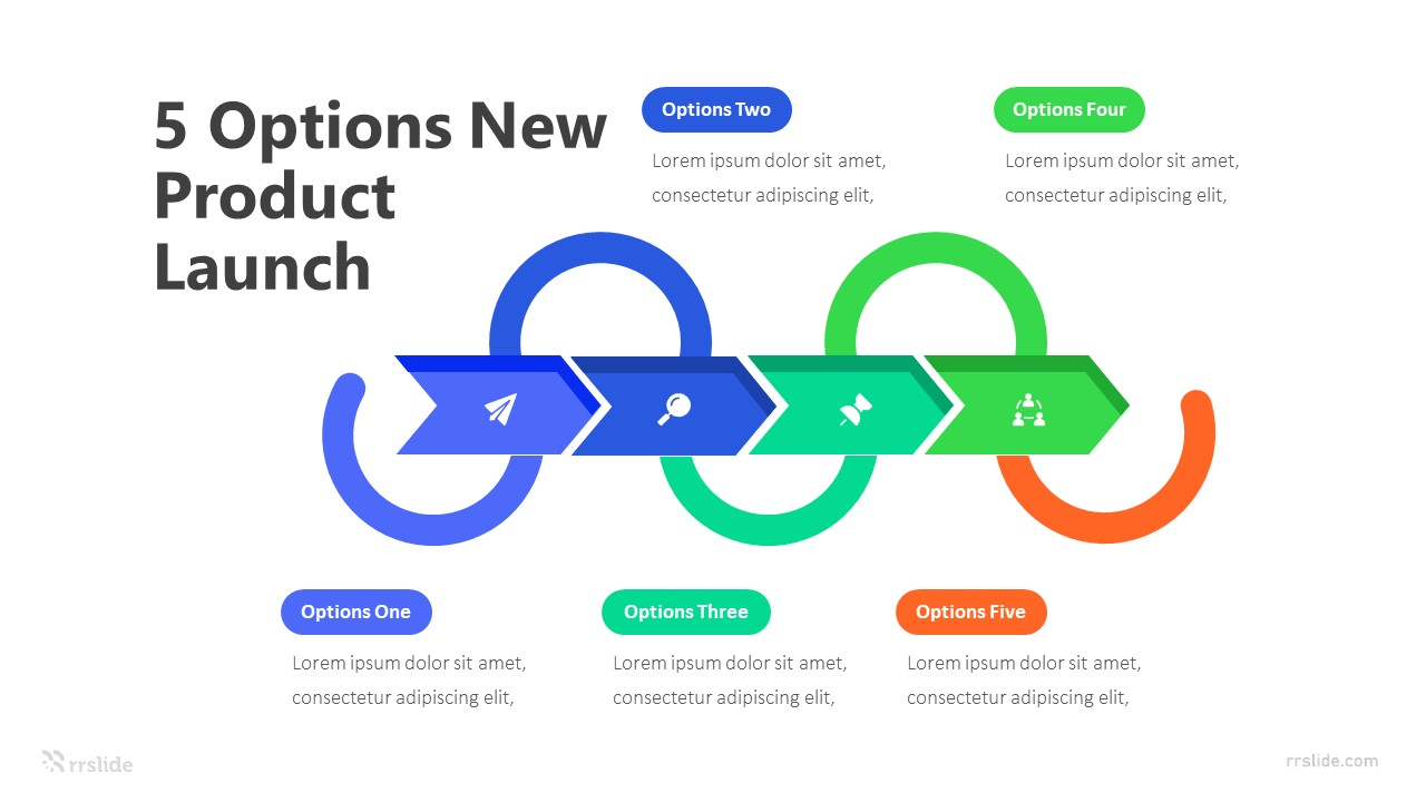 5 Options New Product Launch Infographic Template