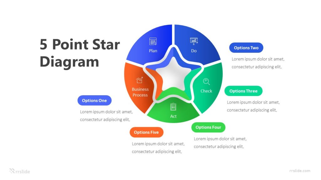 5 Point Diagram Infographic Template