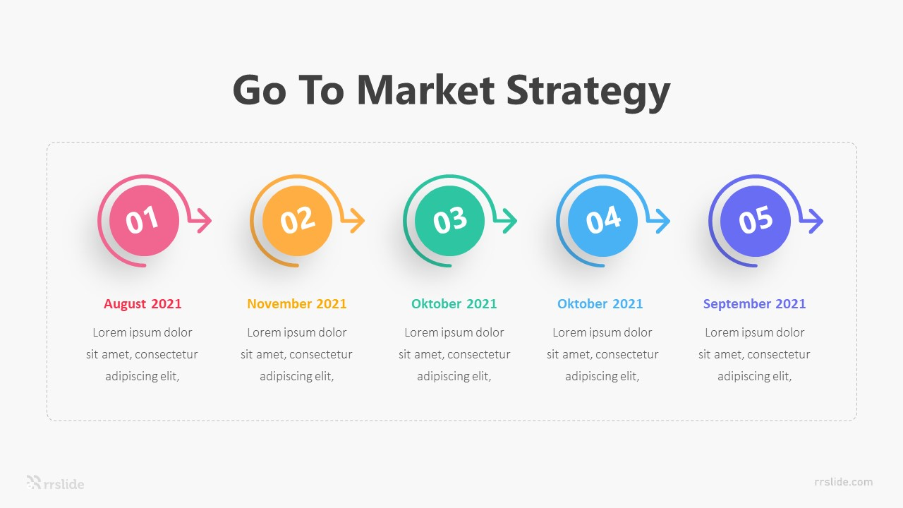 5 Point Go To Market Strategy Infographic Template