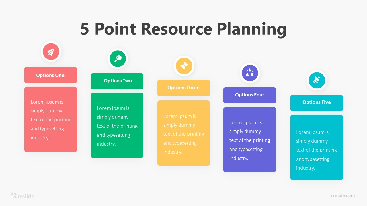 5 Point Resource Planning Infographic Template