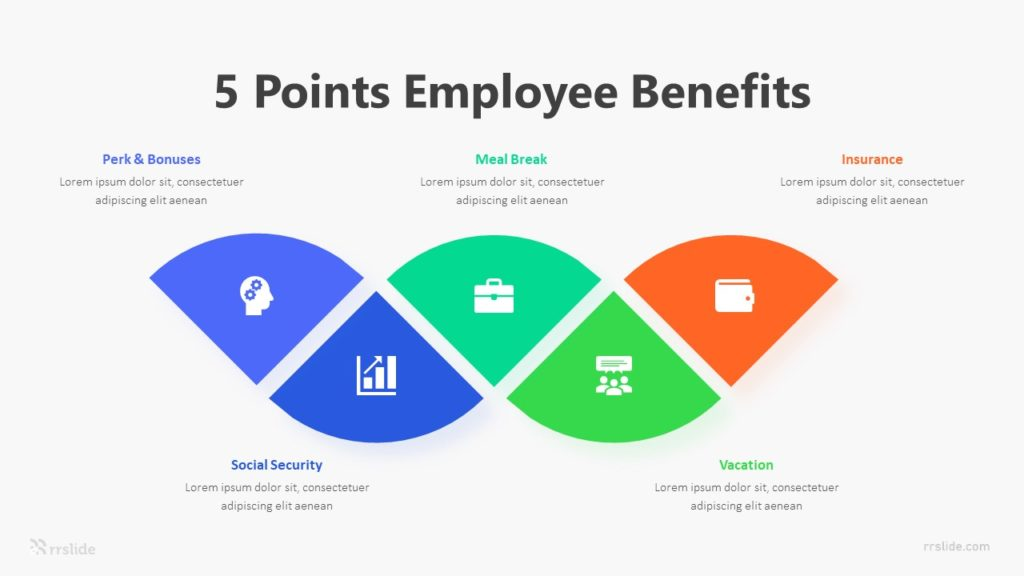 5 Points Employee Benefits Infographic Template