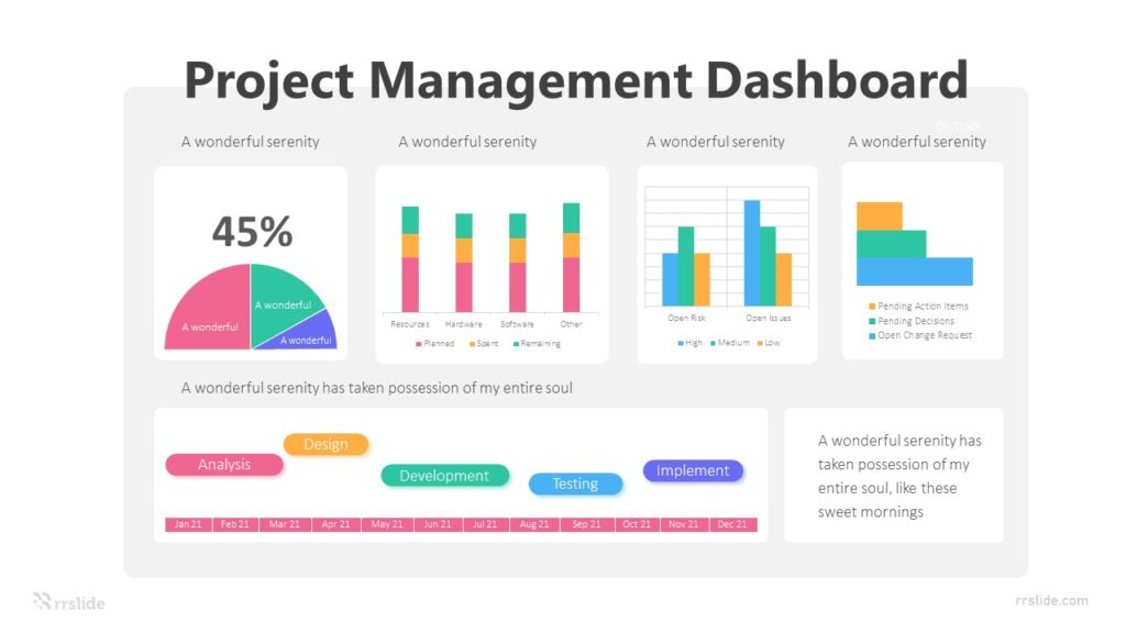 5 Project Management Dashboard Infographic Template