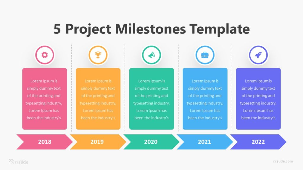 5 Project Milestones Template Infographic Template