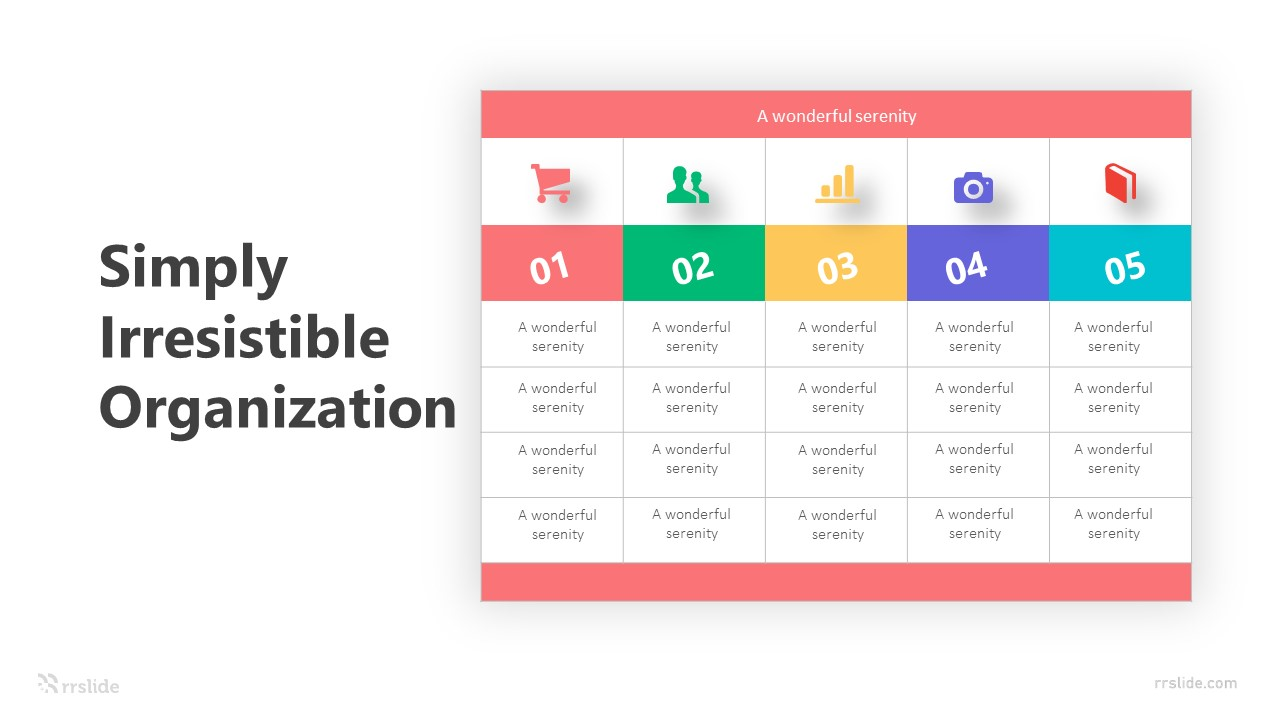 5 Simply Irresistible Organization Infographic Template