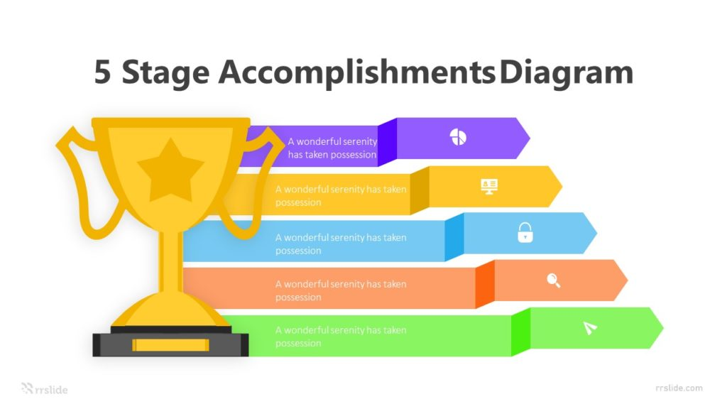 5 Stage Accomplishments Diagram Infographic template