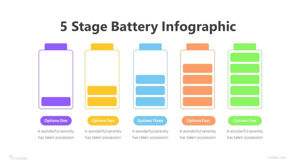5 Stage Battery Infographic Template