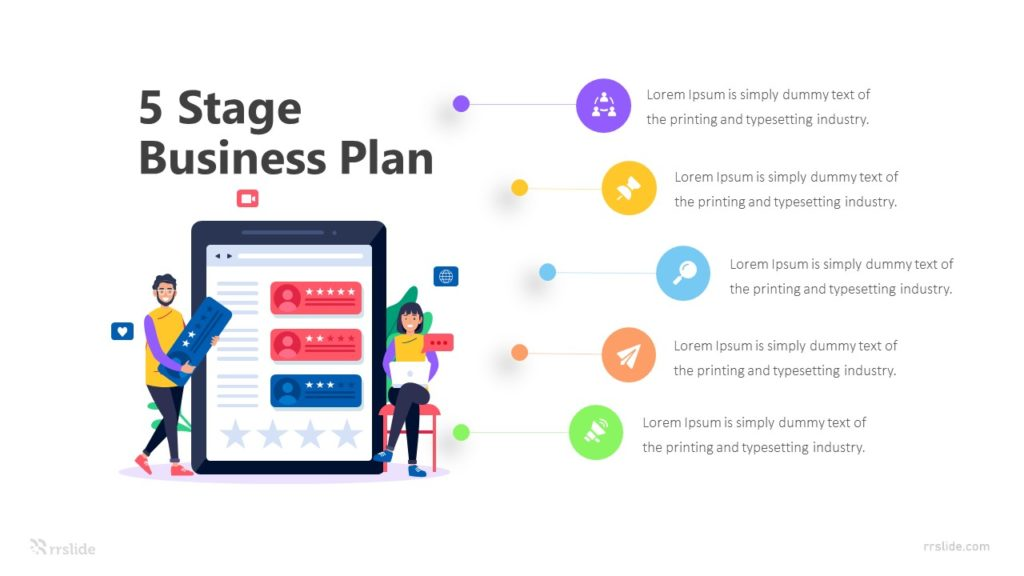 5 Stage Business Plan Infographic Template