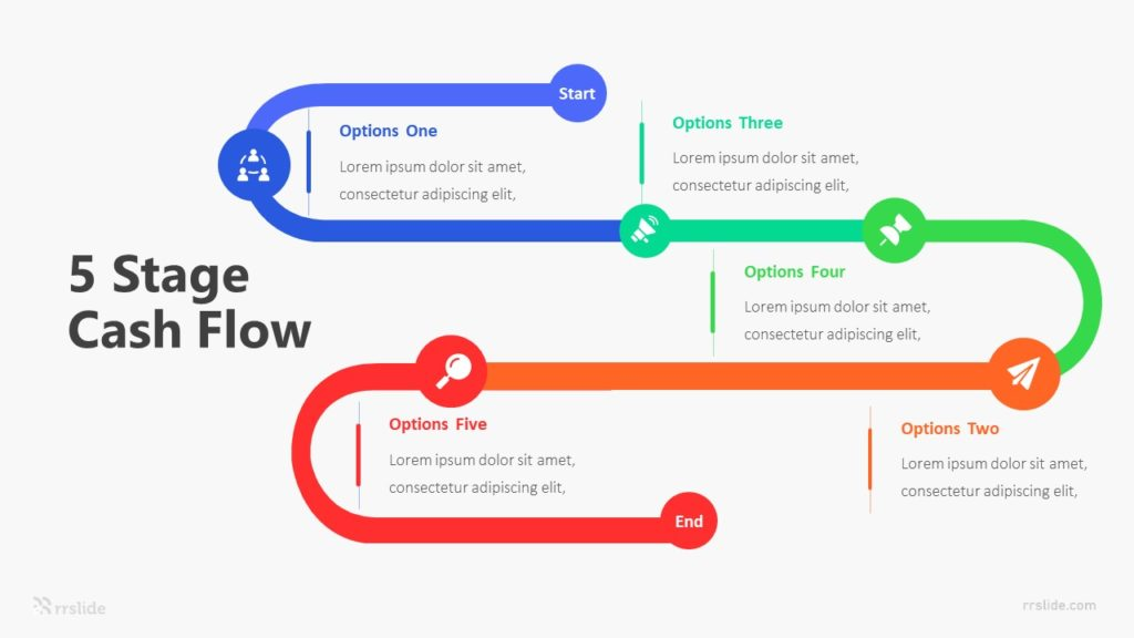 5 Stage Cash Flow Infographic Template