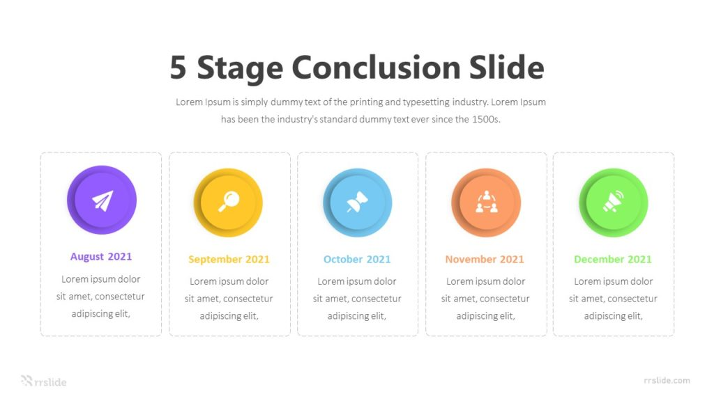 5 Stage Conclusion Slide Infographic Template