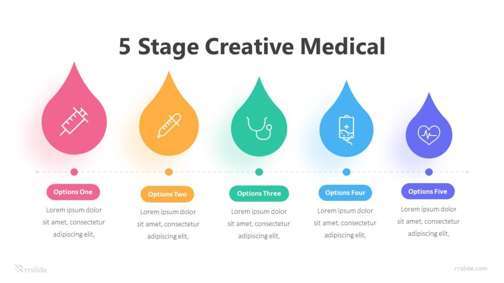 5 Stage Creative Medical Infographic Template