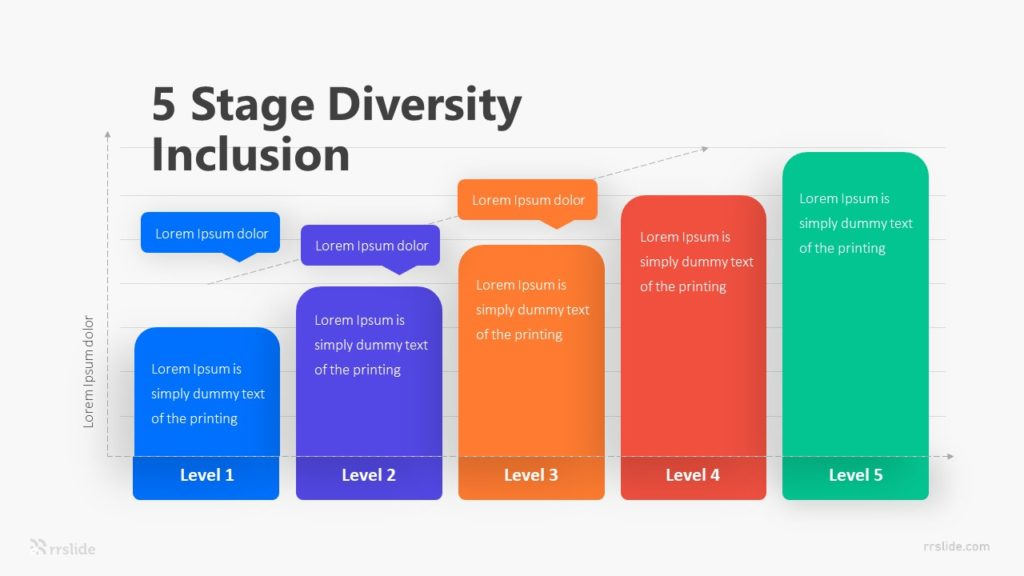 5 Stage Diversity Inclusion Infographic Template