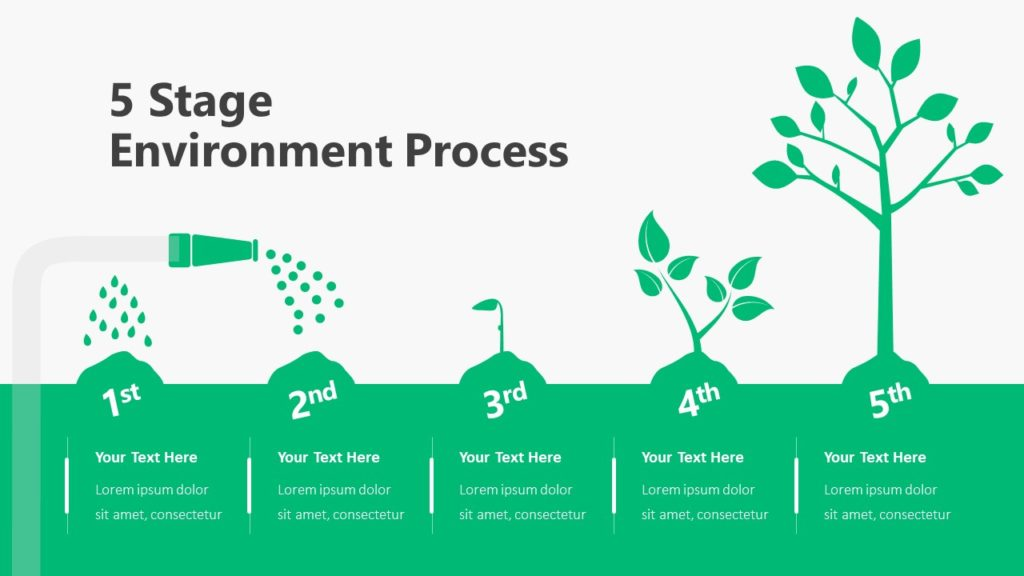 5 Stage Environment Template Infographic Template