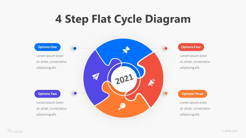 5 Stage Flat Cycle Diagram Infographic Template