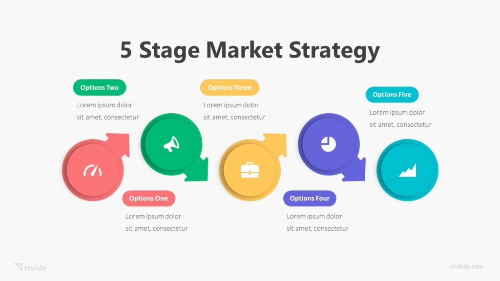 5 Stage Market Strategy Infographic Template