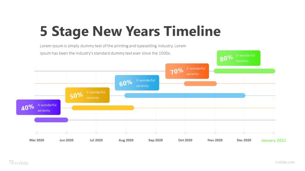 5 Stage New Years Timeline Infographic Template