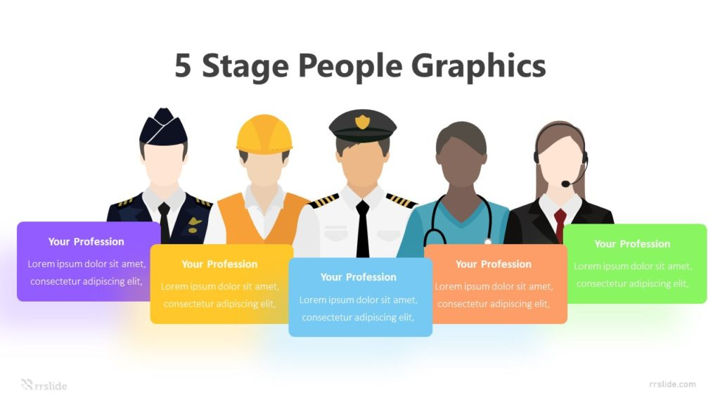 5 Stage People Graphics Infographic Template