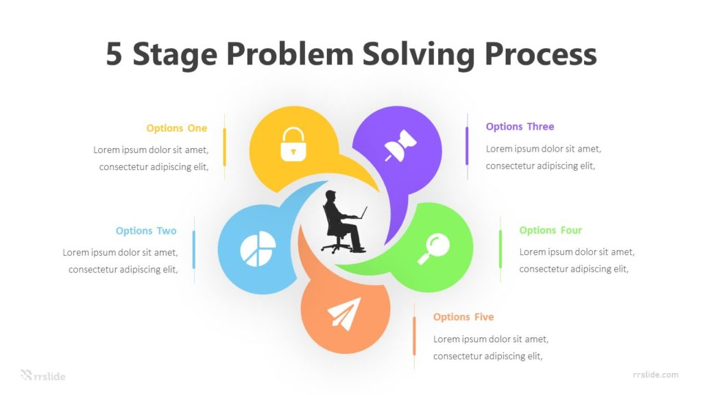 5 Stage Problem Solving Process Infographic Template