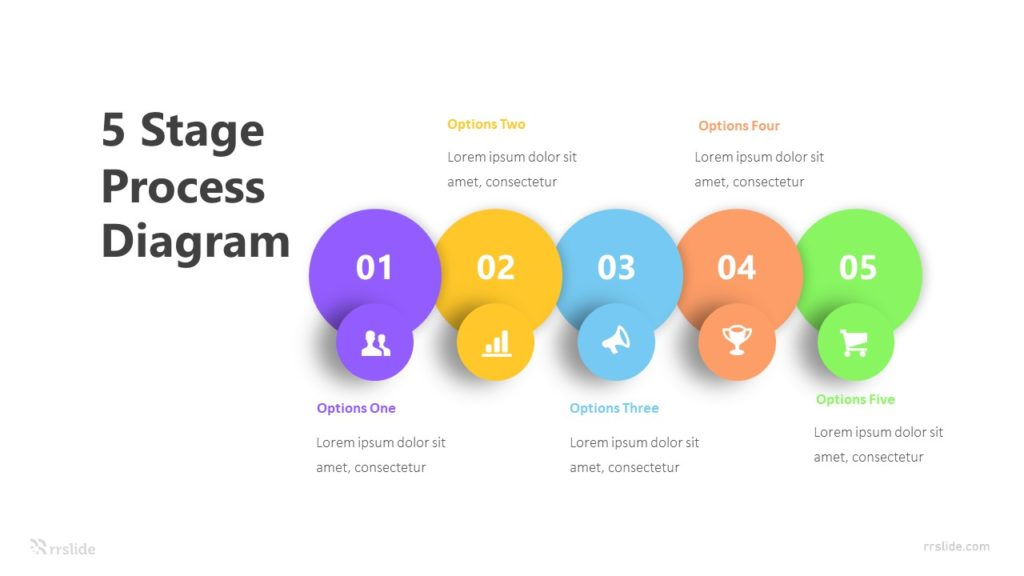 5 Stage Process Diagram Infographic Template
