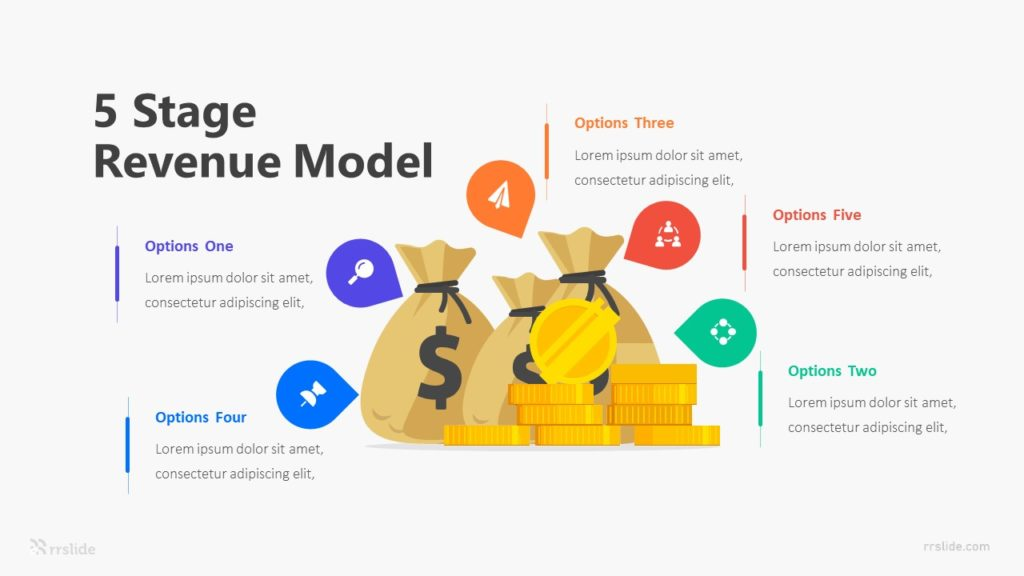 5 Stage Revenue Model Infographic Template