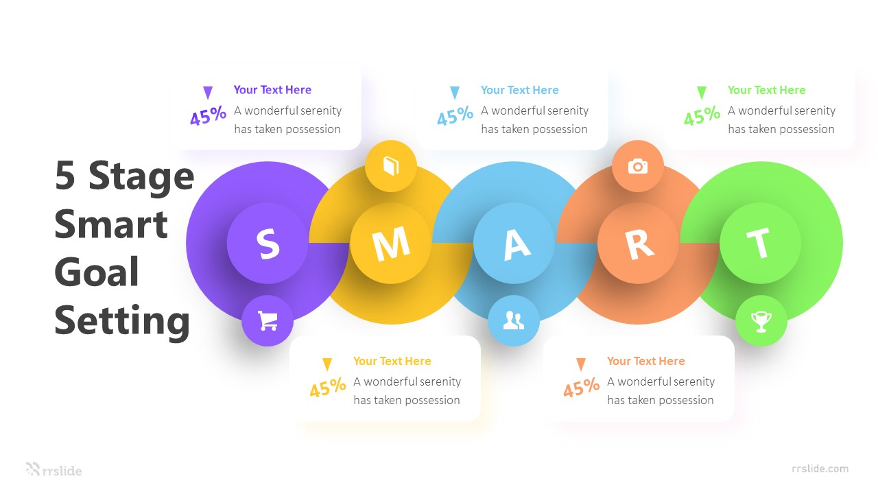 5 Stage Smart Goal Setting Infographic Template