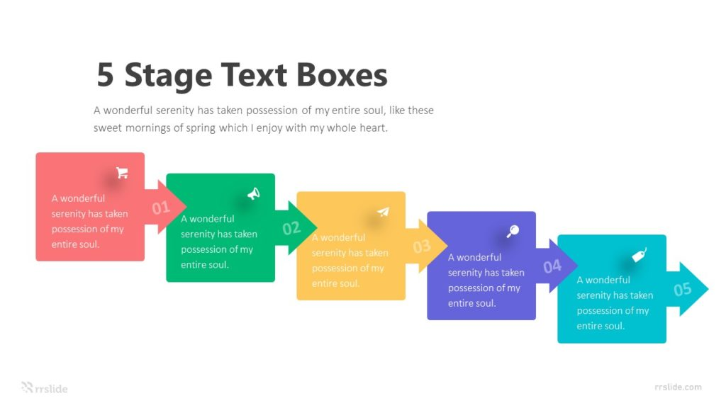 5 Stage Text Boxes Infographic Template