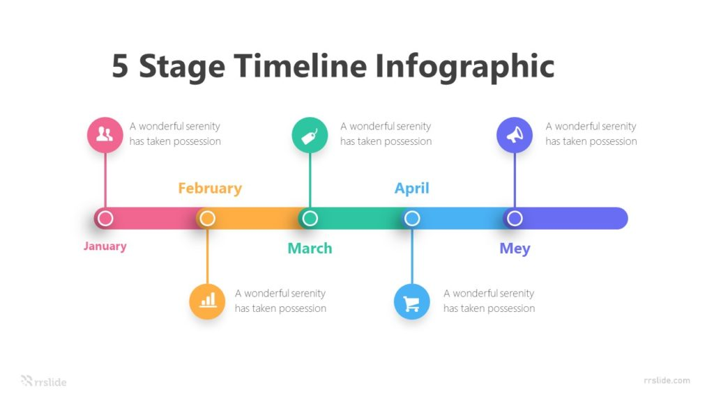 5 Stage Timeline Infographic Template