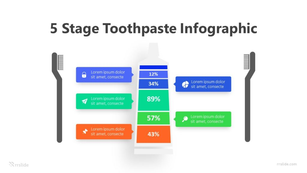 5 Stage Toothpaste Infographic Template