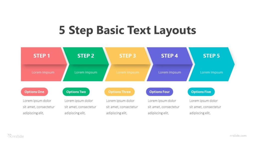 5 Step Basic Text Layouts Infographic Template