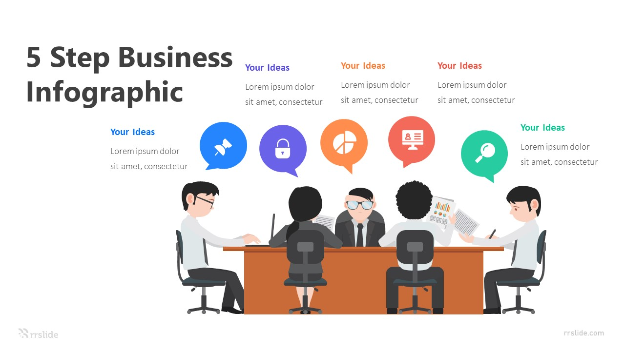 5 Step Business Infographic Template