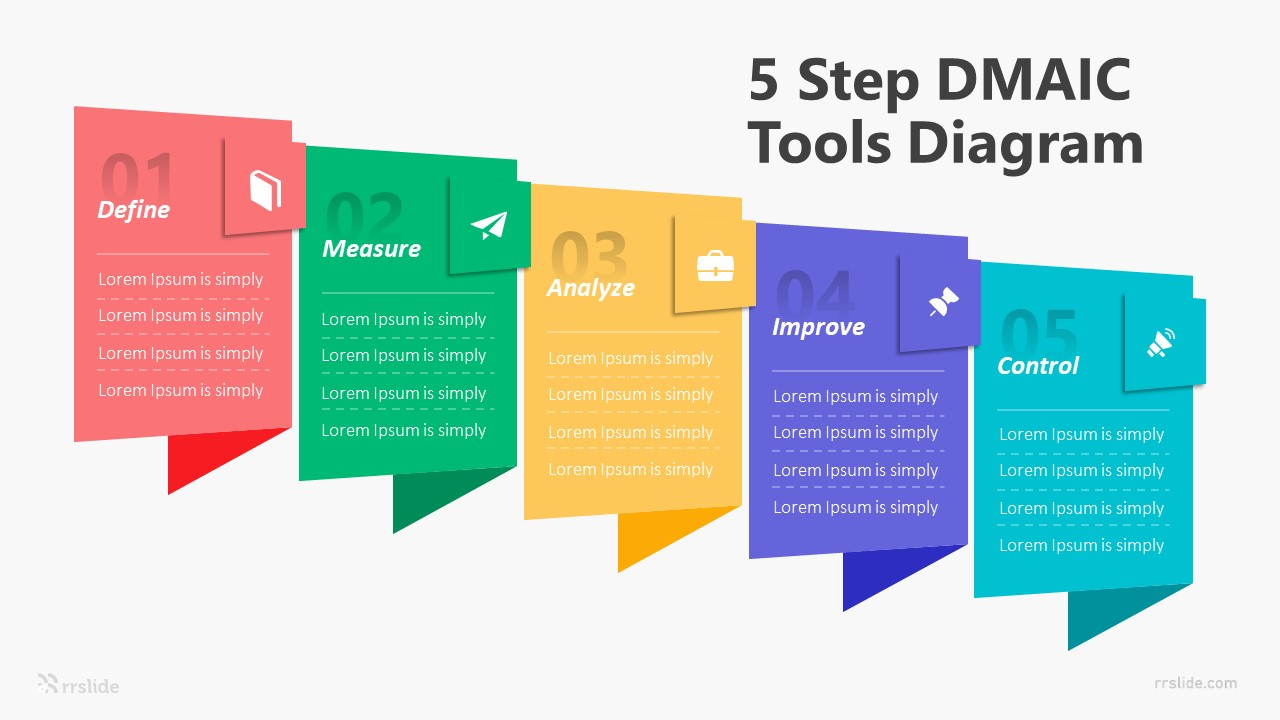 5 Step DMAIC Tools Diagram Infographic Template