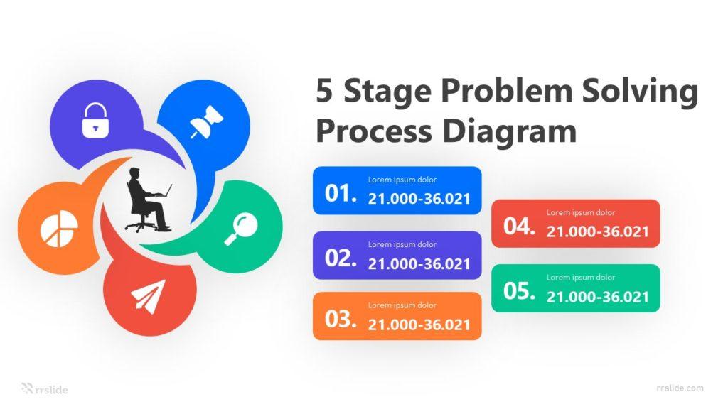 5 Step Problem Solving Diagram Infographic Template