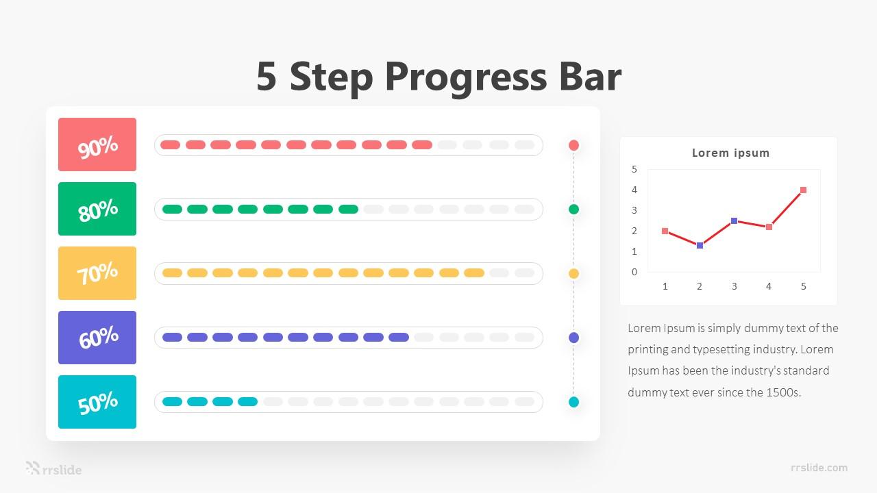 5 Step Progress Bar Infographic Template