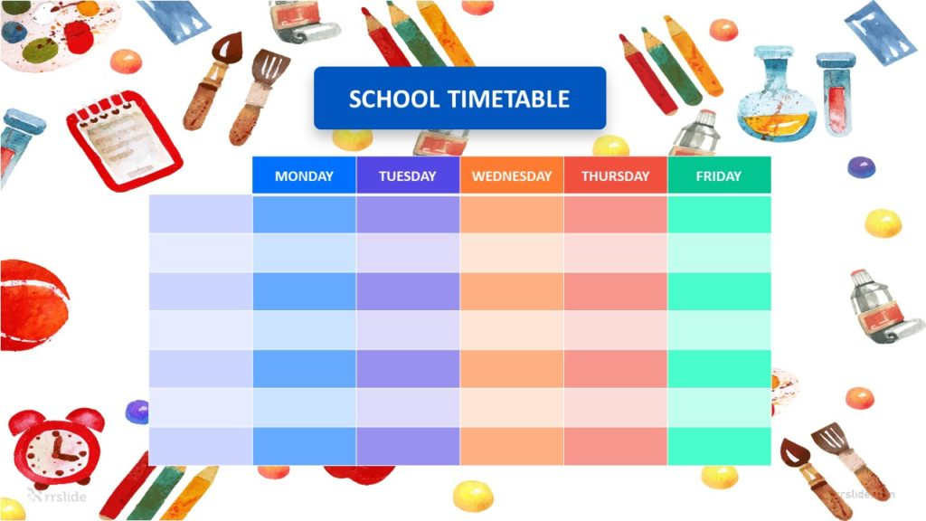 5 Step School Timetable Infographic Template